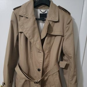 Tan Banana Republic trench coat